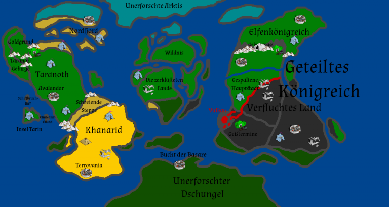 pentaquin mmorpg world map
